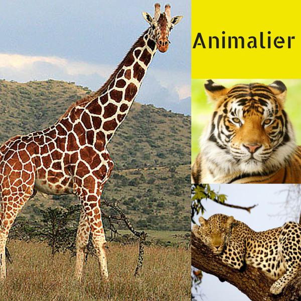 ANIMALIER 14 applique con paralume in tessuto