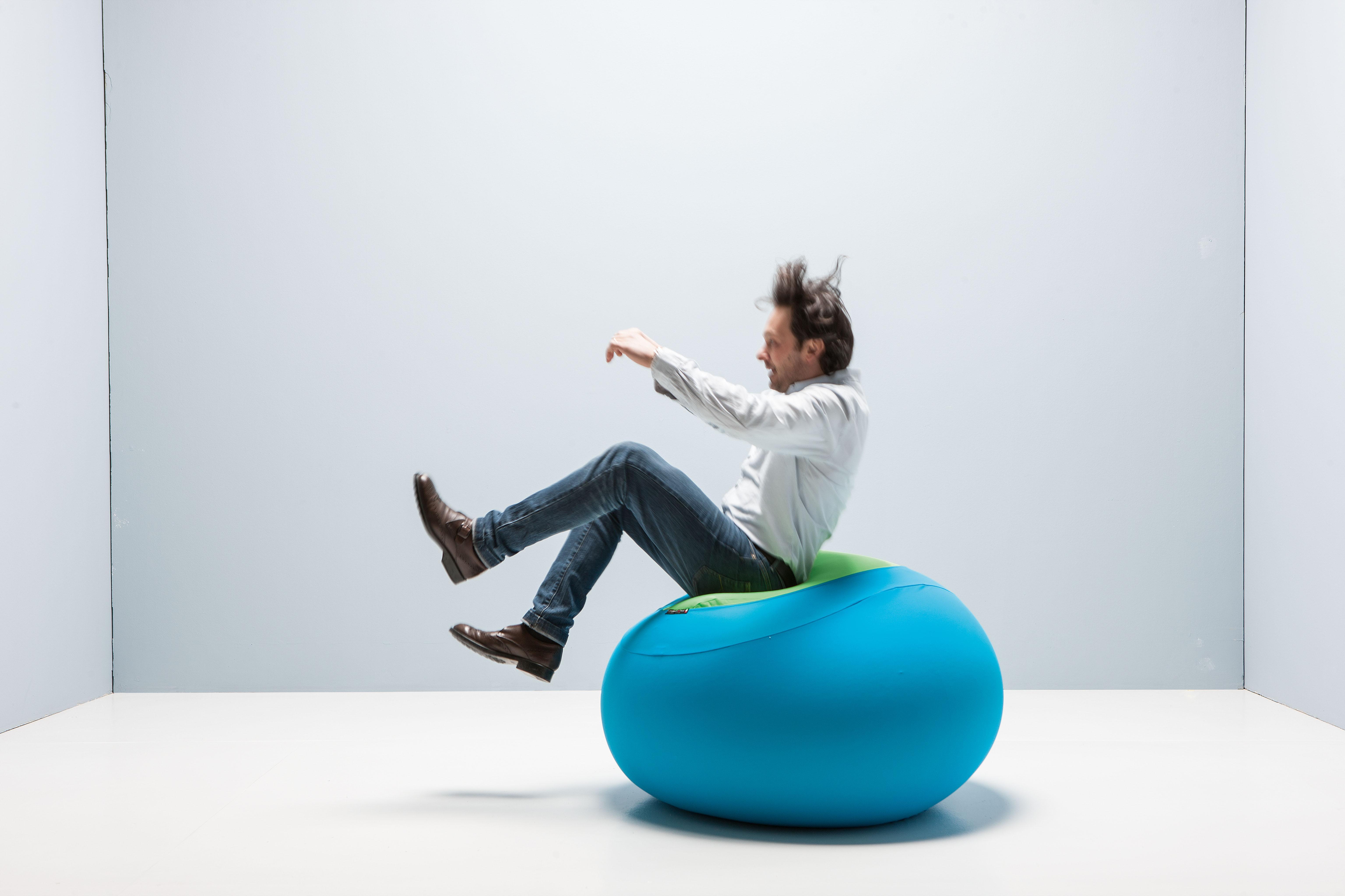 Pouf Sphere Turchese