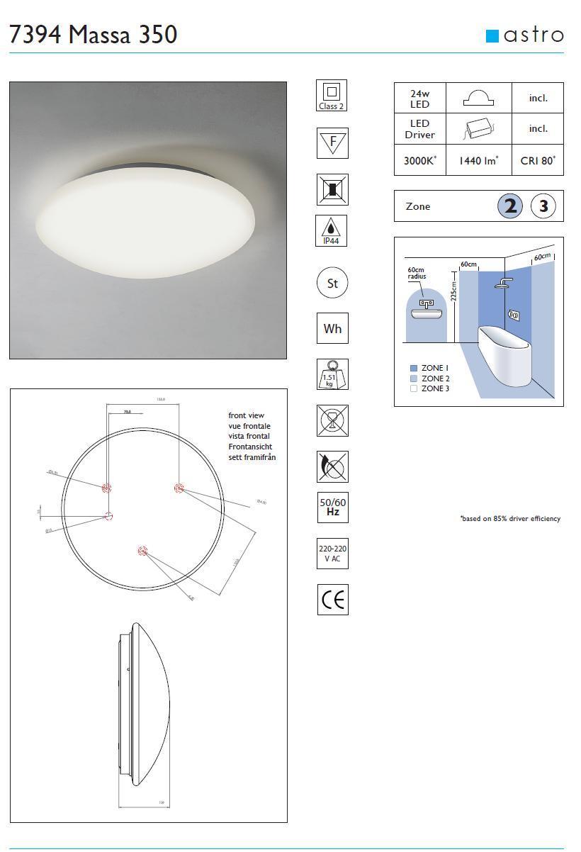 MASSA LED plafoniera