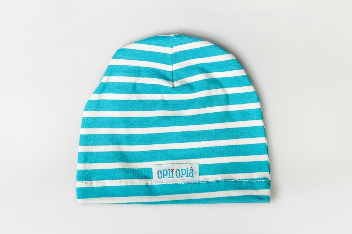 Cappello Liscio Azzurro Righe