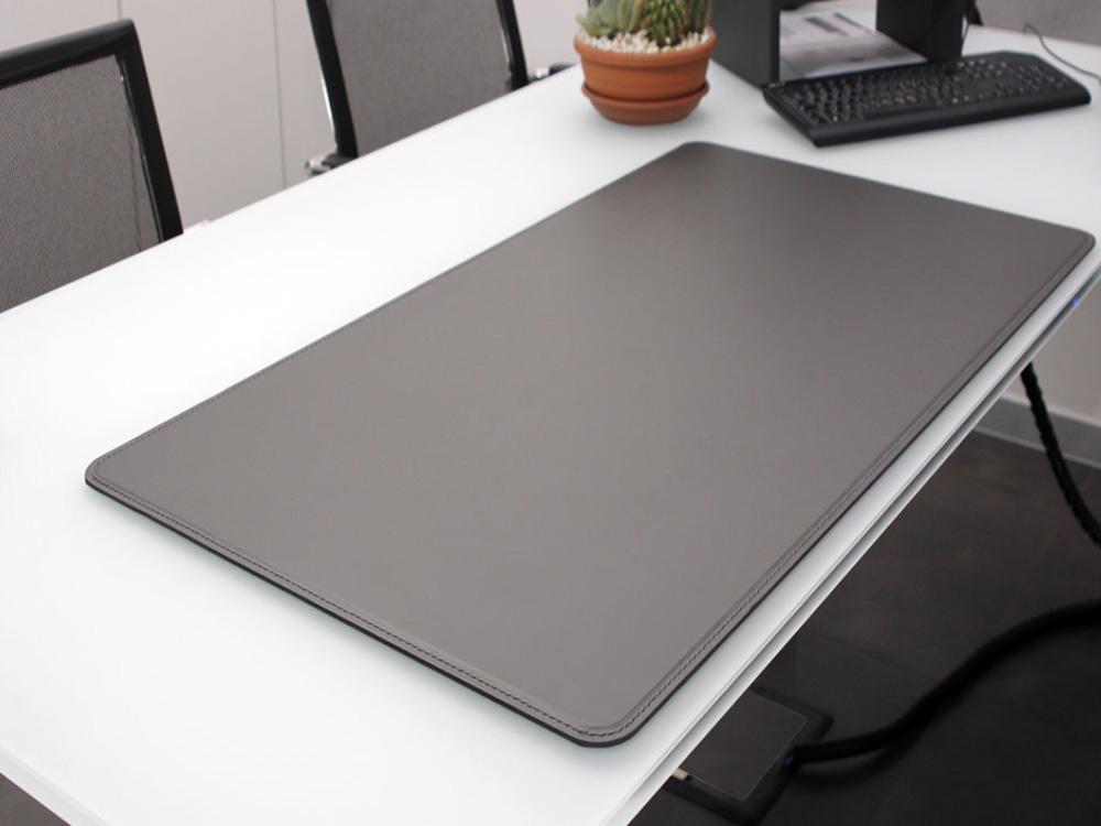 Ascanio sottomano sottomano da scrivania in cuoio colore bordeaux