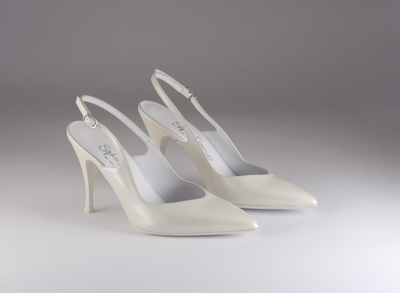 Scarpa donna elegante da sposa e cerimonia Francesco cod.7074 9017