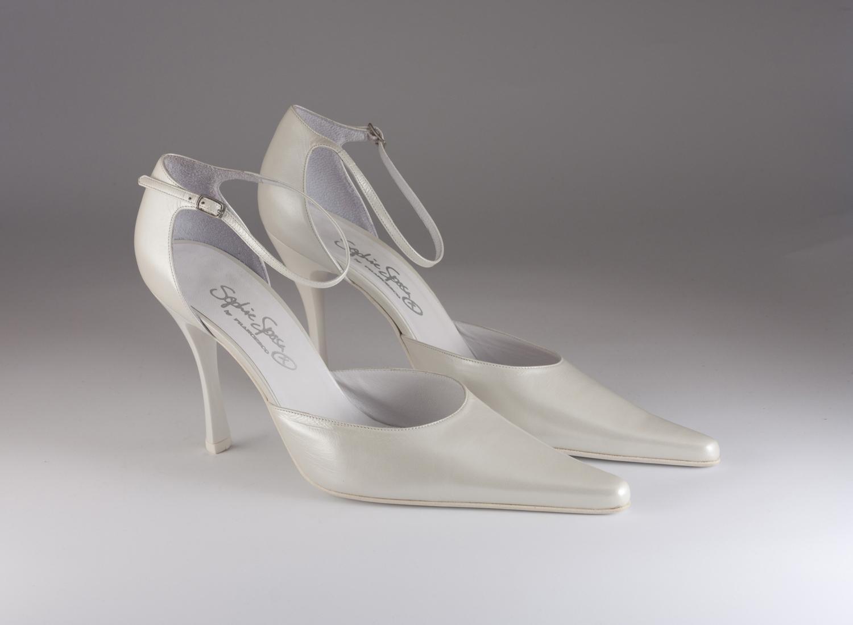Scarpa donna elegante da sposa e cerimonia in pelle Francesco cod.4758