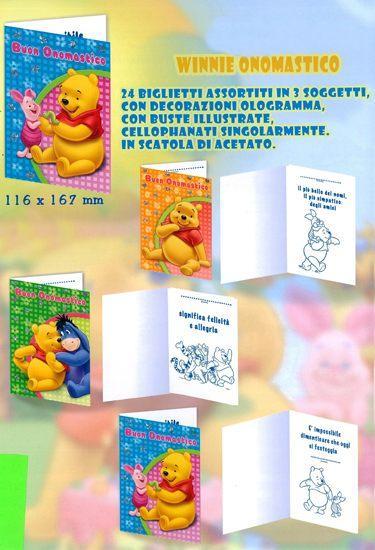 Winnie the Pooh Buon Onomastico biglietto augurale