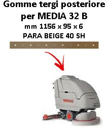 Gomma tergi posteriore per lavapavimenti MEDIA 32 B Comac