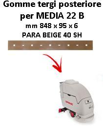 Gomma tergi posteriore per lavapavimenti  MEDIA 22 B Comac