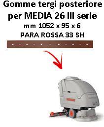 Gomma tergi posteriore per lavapavimenti COMAC MEDIA 26 III SERIE