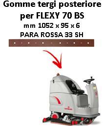 Gomma tergi posteriore per lavapavimenti COMAC FLEXY 70 BS