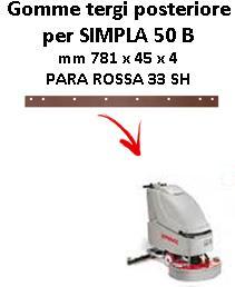 Gomma tergi posteriore per lavapavimenti COMAC SIMPLA 50 B