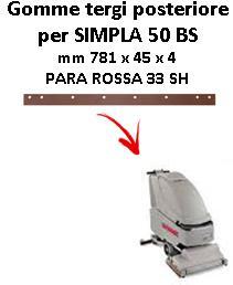 Gomma tergi posteriore per lavapavimenti COMAC SIMPLA 50 BS