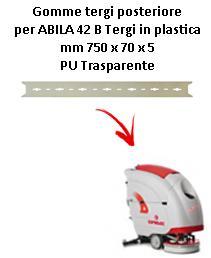 ABILA 2010 42 B  GOMMA TERGI posteriore Comac