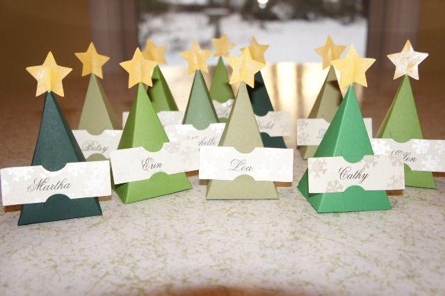 Segnaposto natalizi - Alberi di cartone