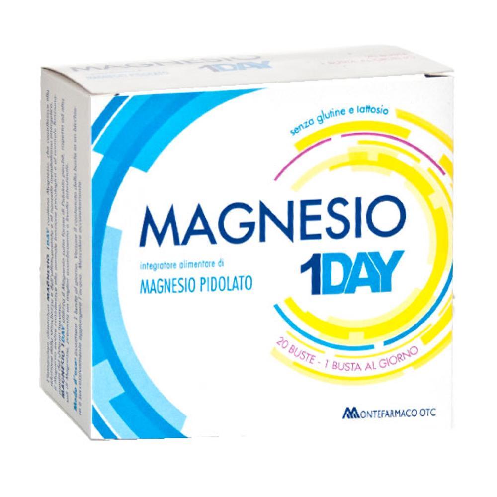MAGNESIO 1 DAY INTEGRATORE ALIMENTARE DI MAGNESIO PIDOLATO PER COMBATTERE LA STANCHEZZA