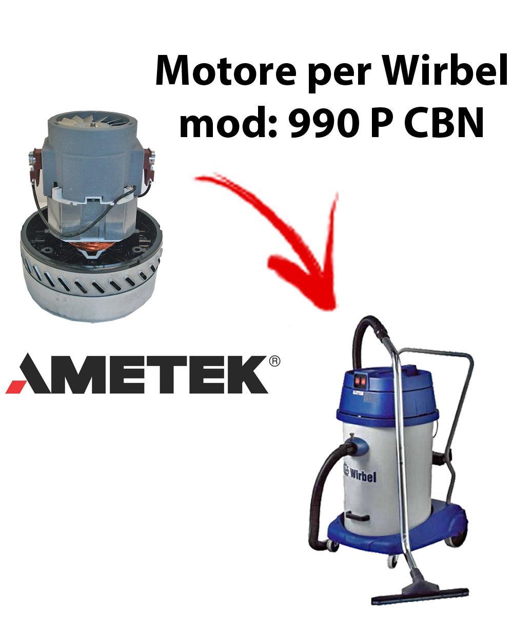 Motore Ametek di aspirazione per Aspirapolvere e aspiraliquidi WIRBEL 990 P CBN