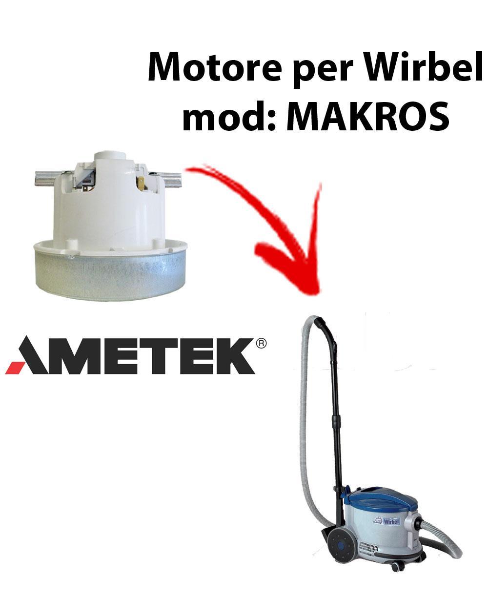 Motore Ametek di aspirazione per Aspirapolvere WIRBEL, modello MAKROS
