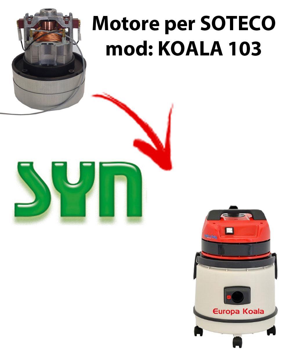 Motore Synclean di aspirazione per Aspirapolvere SOTECO KOALA 103
