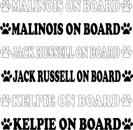 Malinois - Jackrussell - Kelpie on board
