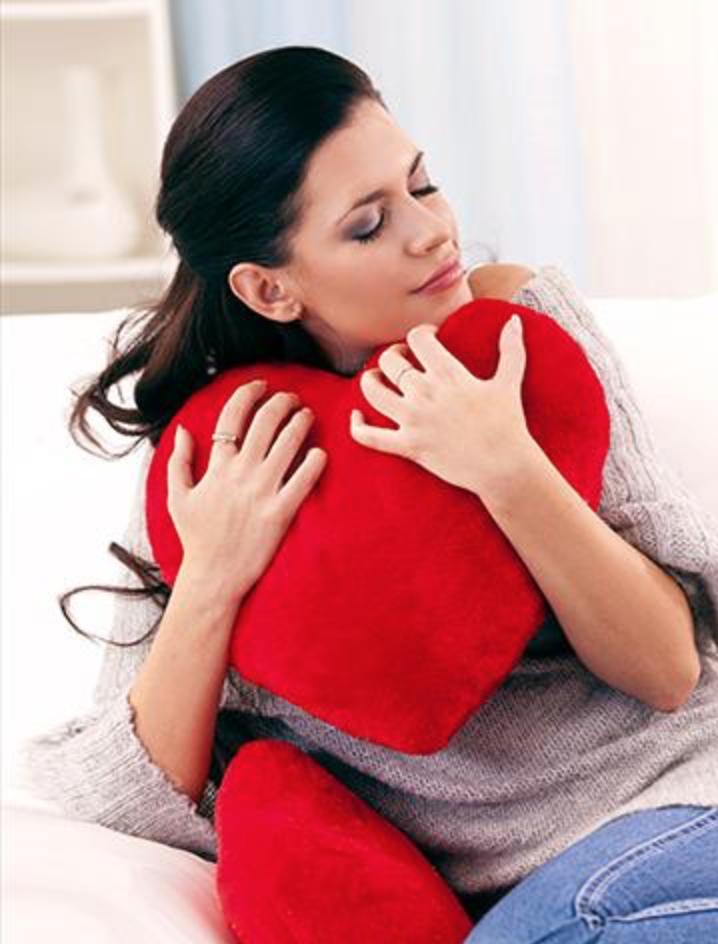 San Valentino idea regalo - Cuscino Cuore Velluto Rosso