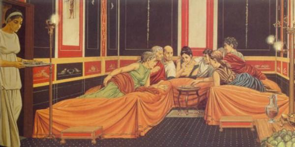 Triclinium romano brandina per dormire, banchetti e riunioni