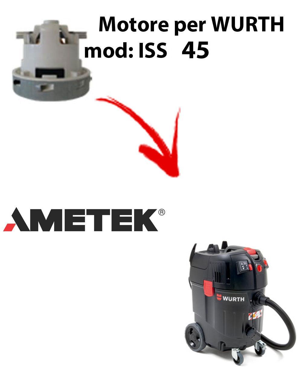 Motore Ametek di aspirazione per Aspirapolvere WURTH ISS 45 AUTOMATIC