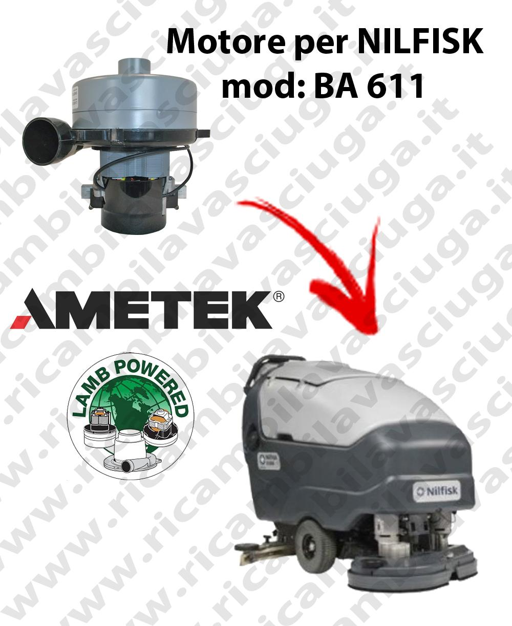 Motore aspirazione Lamb Ametek per Lavapavimenti Nilfisk BA 611