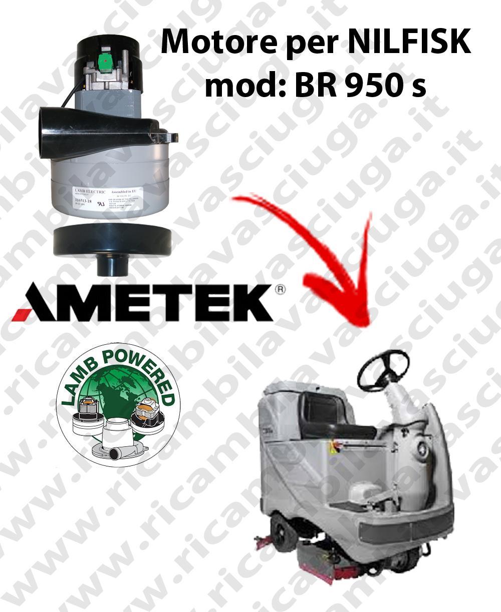 Motore aspirazione Lamb Ametek per Lavapavimenti Nilfisk BR 950 S