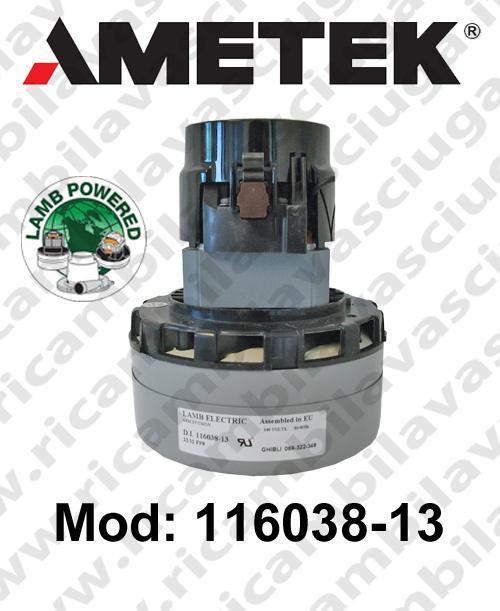 Motore aspirazione 116038-13 LAMB AMETEK per lavapavimenti