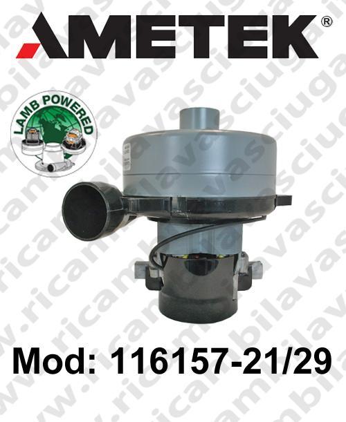 Motore aspirazione LAMB AMETEK 116157-21/29 per lavapavimenti