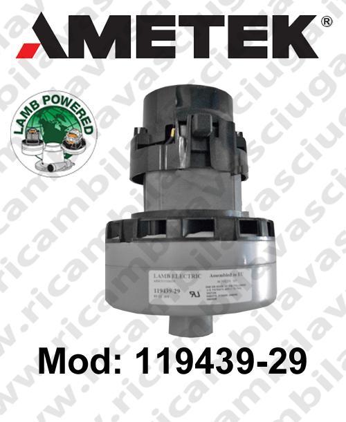 Motore aspirazione 119439-29 LAMB AMETEK per lavapavimenti