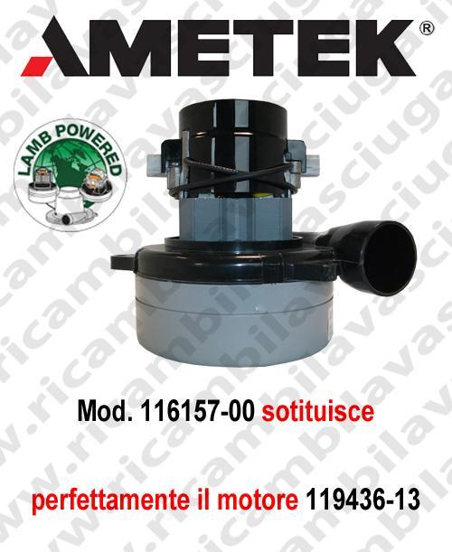 Motore aspirazione 116157-00 LAMB AMETEK per lavapavimenti (sostituisce 119436-13)
