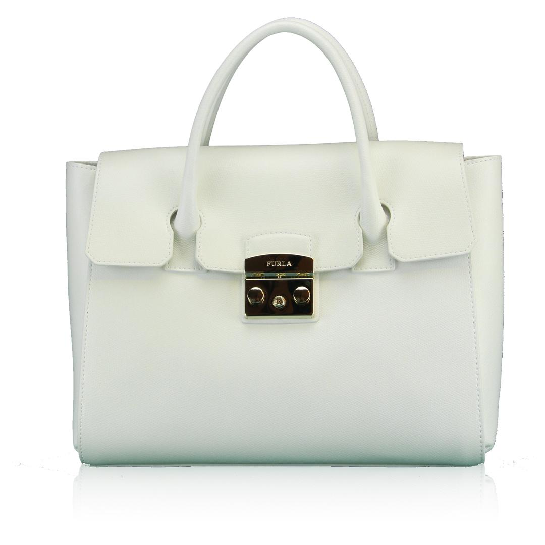 Hand and shoulder bag Furla METROPOLIS 808320 CHALK