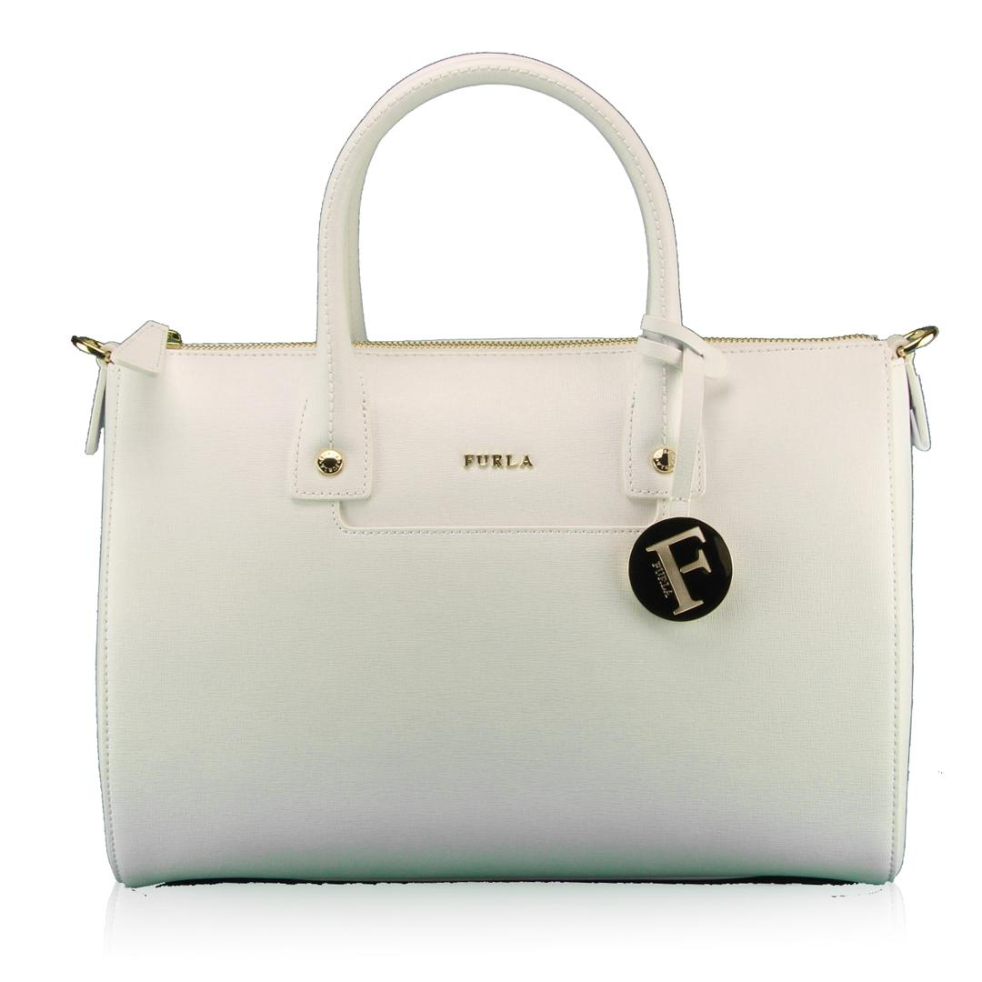 Hand and shoulder bag Furla LINDA 811476 CHALK