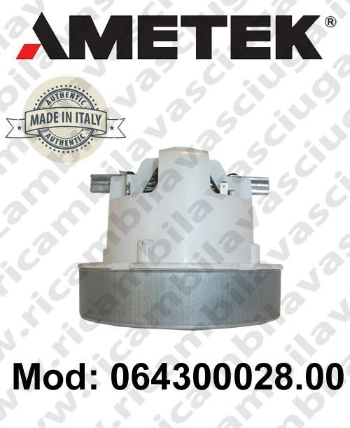 Motore aspirazione 064300028.00 AMETEK ITALIA per sistemi di aspirazione centralizzati