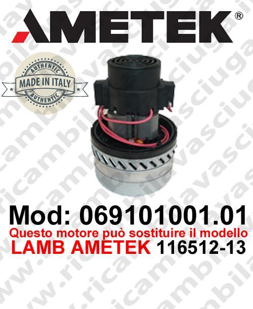 Motore aspirazione 069101001.01 AMETEK ITALIA per lavapavimenti ,può sostituire il motore LAMB AMETEK 116512-13