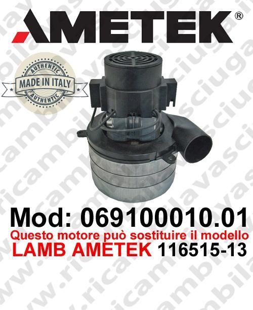Motore aspirazione 069100010.01 AMETEK ITALIA per lavapavimenti ,può sostituire il motore LAMB AMETEK 116515-13