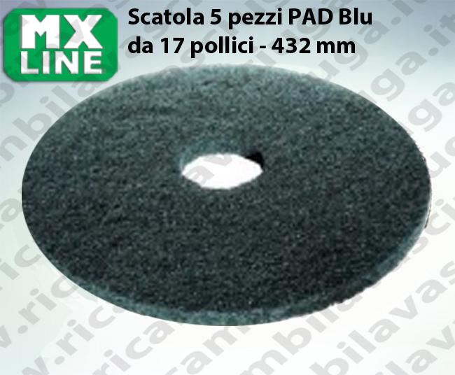 PAD MAXICLEAN 5 PEZZI color Blu da 17 pollici - 432 mm | MX LINE