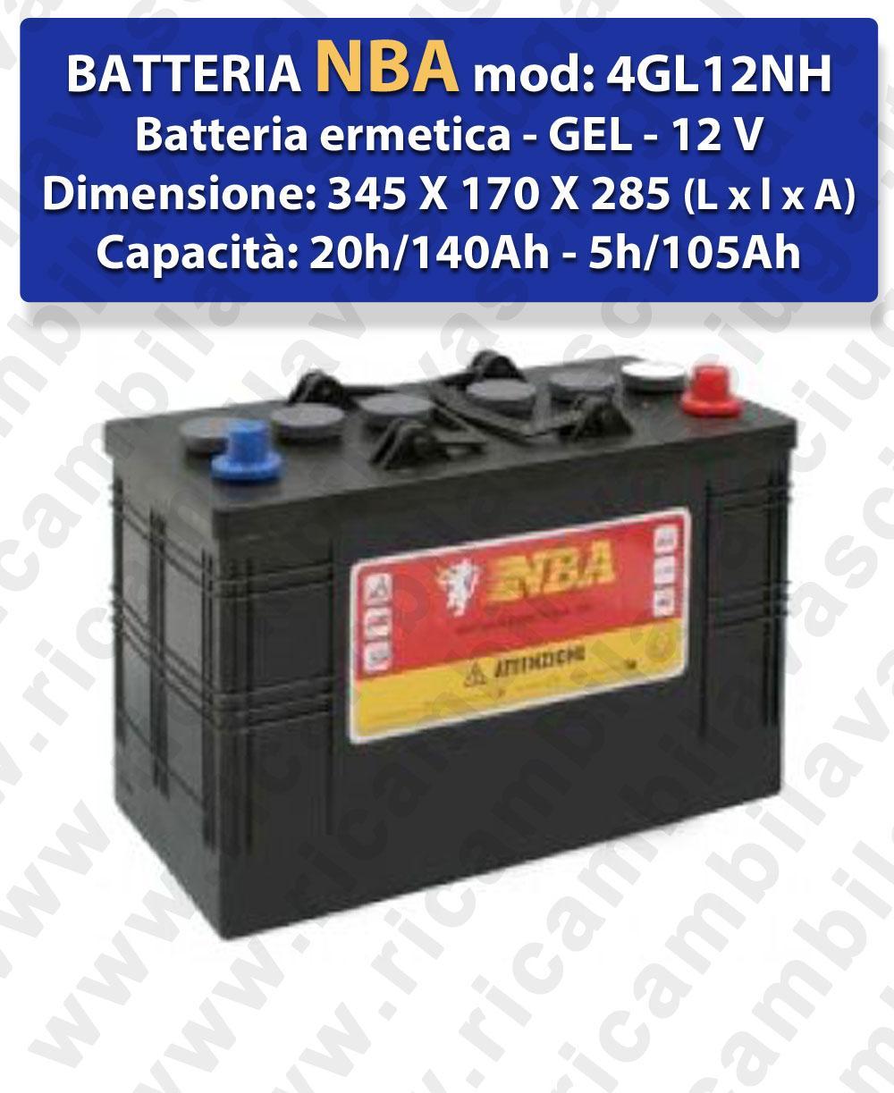 4GL12NH Batteria Ermetica GEL  - NBA 12V 140Ah 20/h