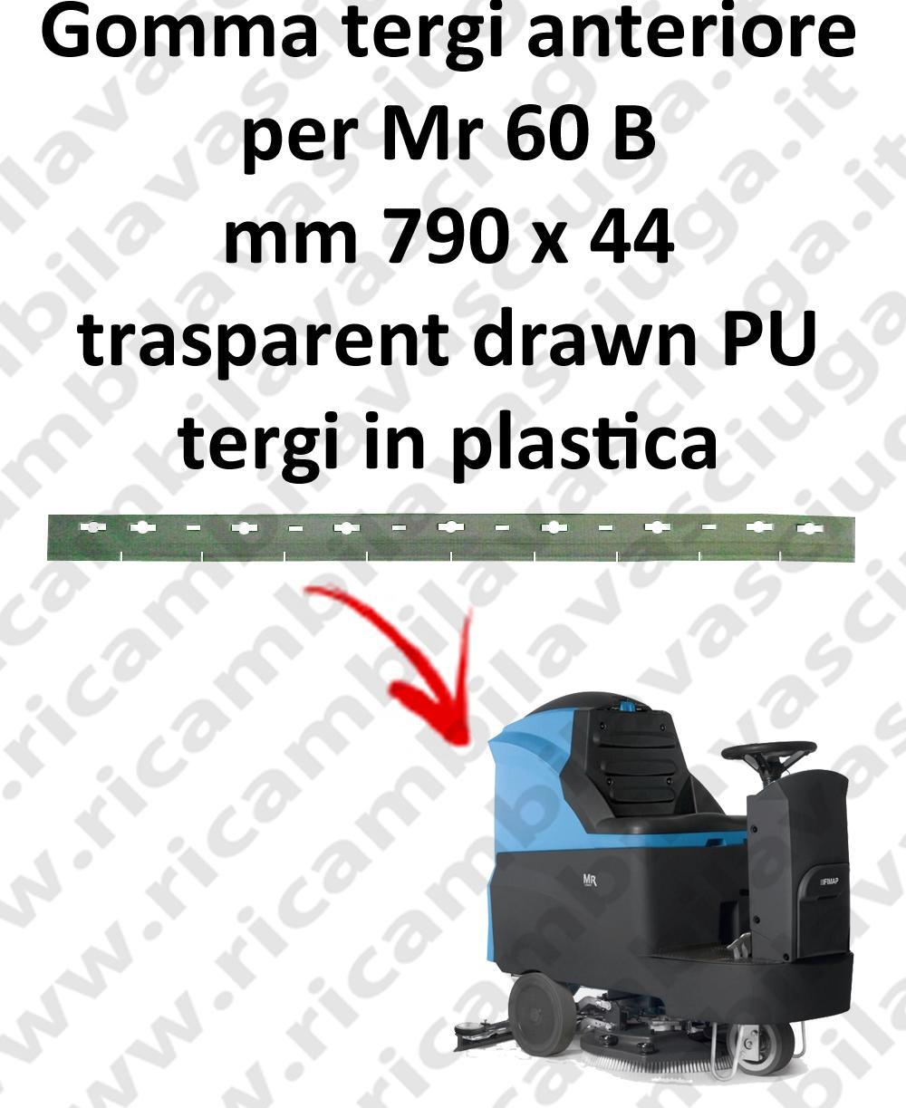 Mr 60 B GOMMA TERGIPAVIMENTO anteriore per FIMAP ricambio lavapavimenti squeegee