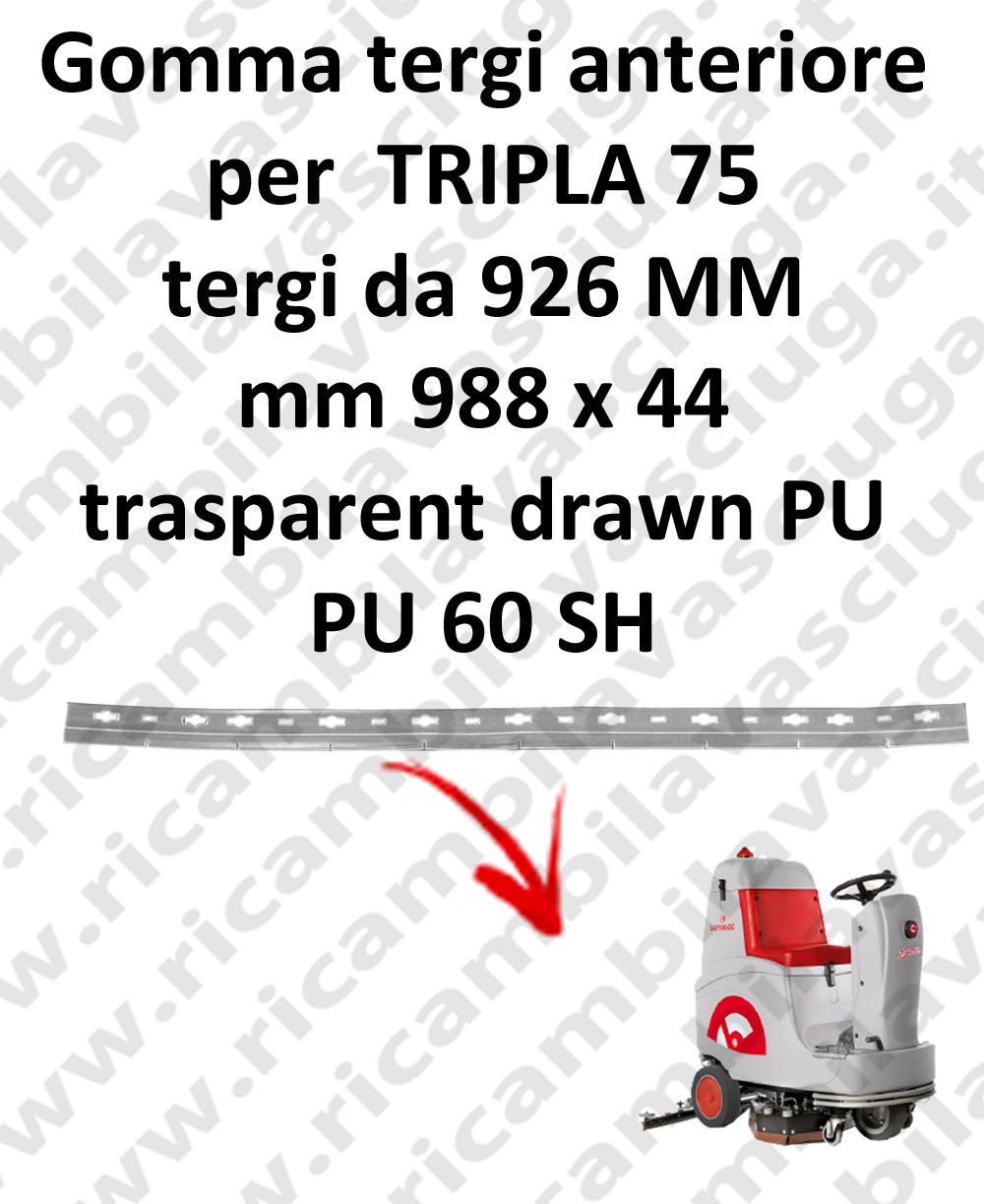 Gomma tergipavimento anteriore per lavapavimenti COMAC - TRIPLA 75