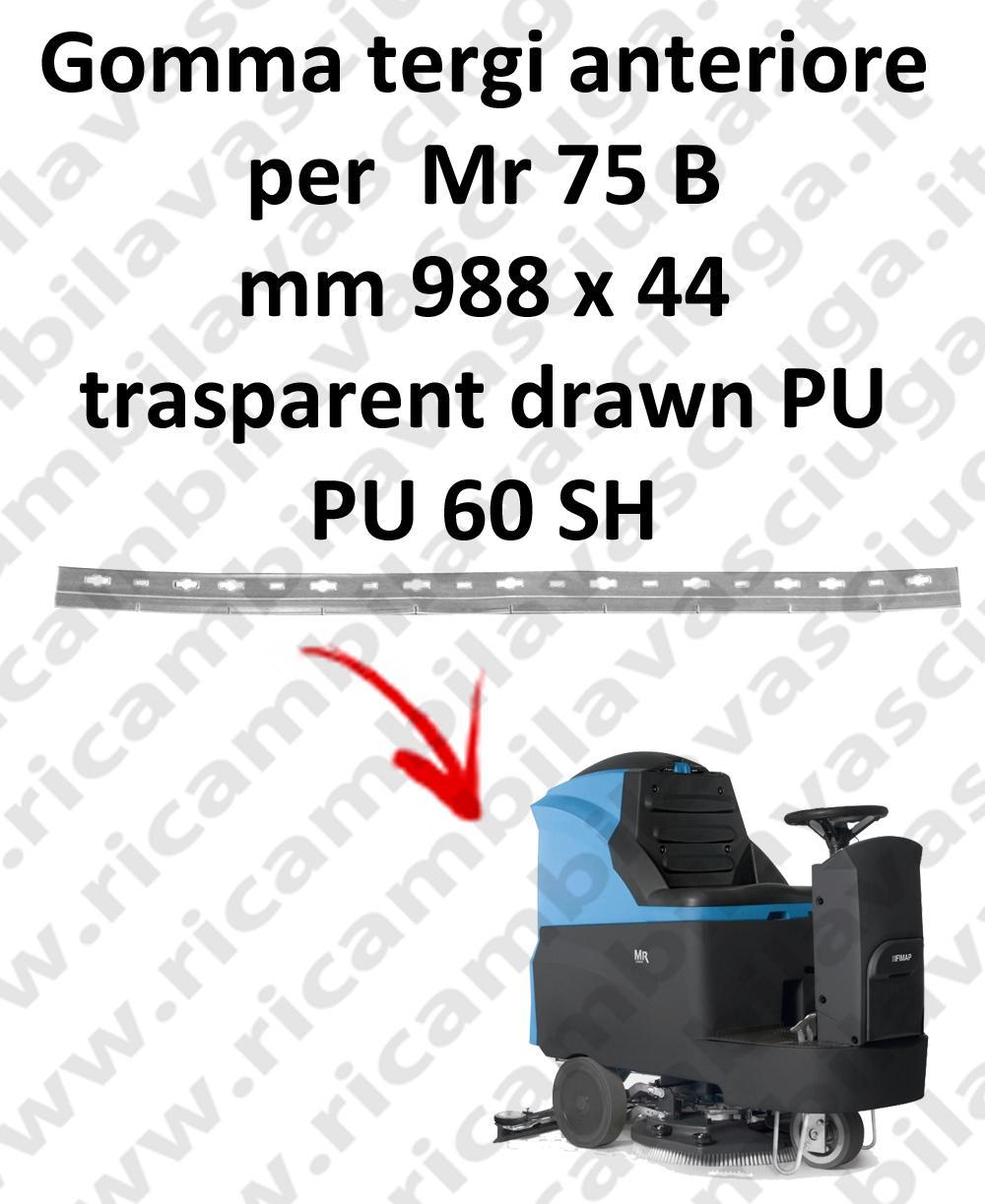 Gomma tergipavimento anteriore per lavapavimenti FIMAP - Mr 75