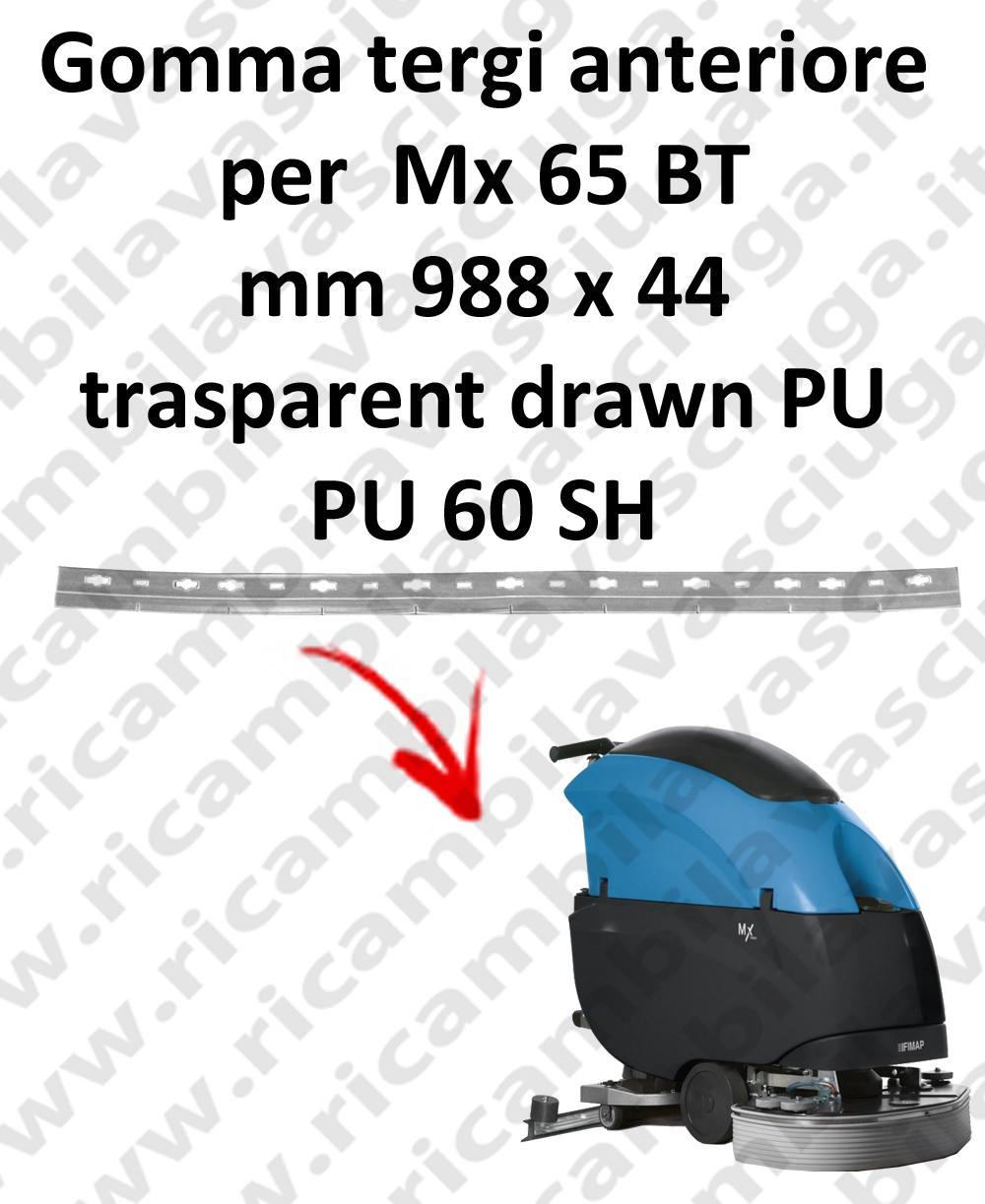 Mx 65 BT GOMMA TERGIPAVIMENTO anteriore per FIMAP ricambio lavapavimenti squeege
