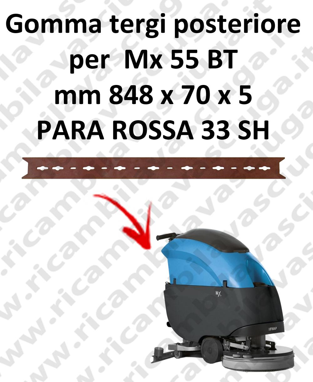 Gomma tergipavimento posteriore per lavapavimenti FIMAP Mx 55 BT