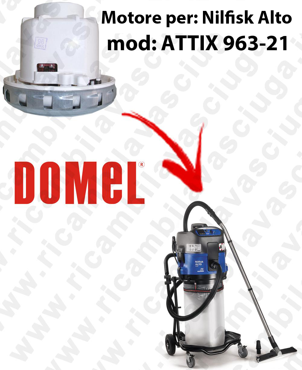 MOTORE DOMEL  per ATTIX 963-21 aspirapolvere NILFISK ALTO