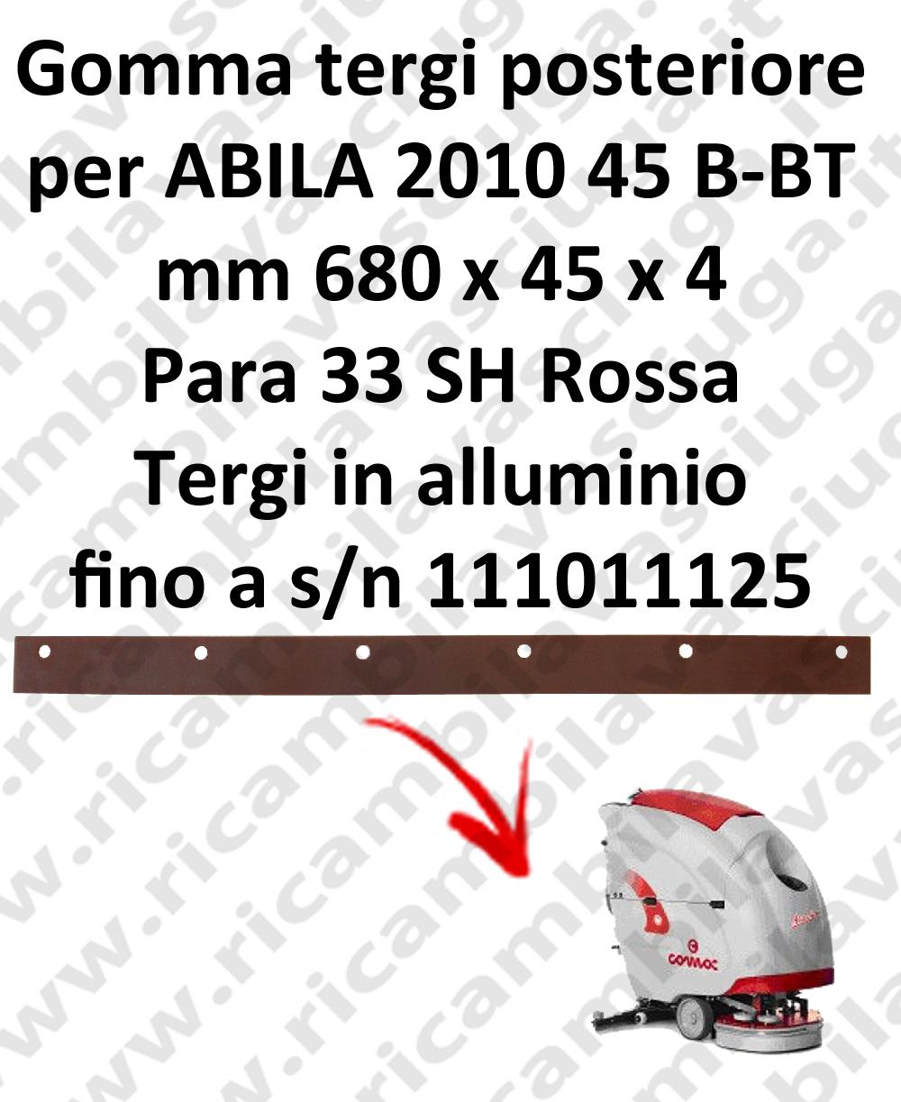 Gomma tergipavimento posteriore per lavapavimenti COMAC ABILA 2010 45 B-BT