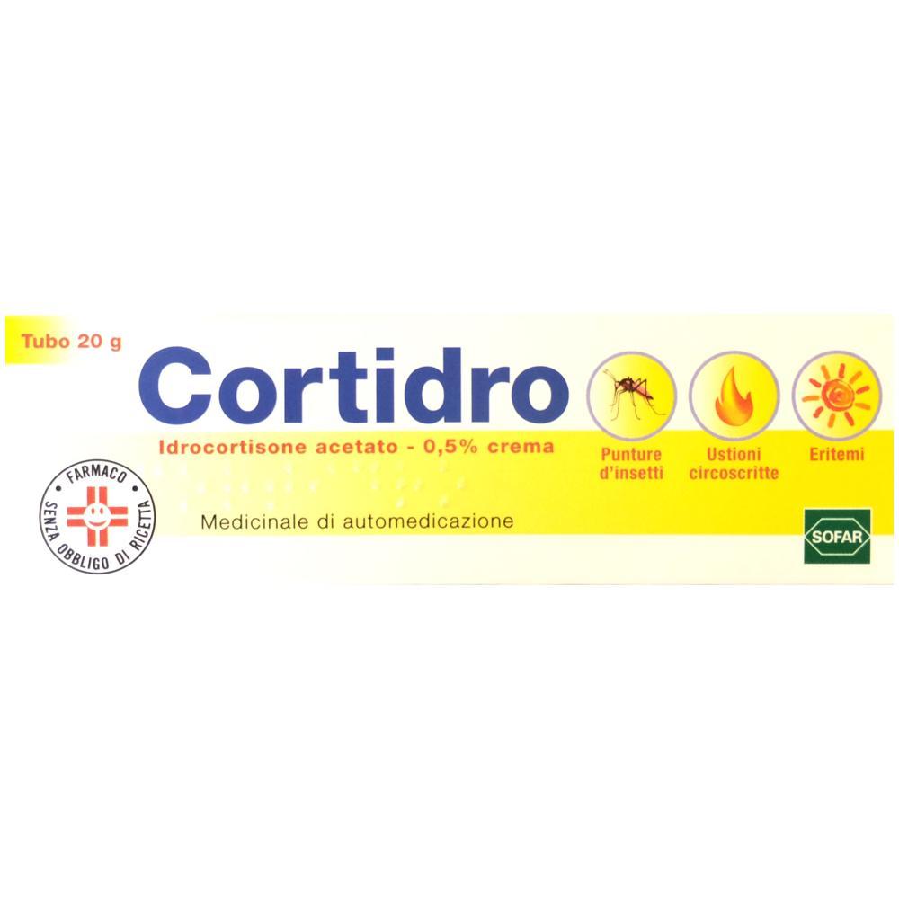 cortidro idrocortisone acetato in crema per punture d