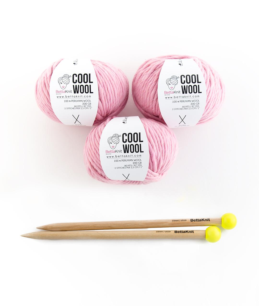 Yarn boxes with Needles  - Pack of Yarn - Cool Wool Box - Medium - 1