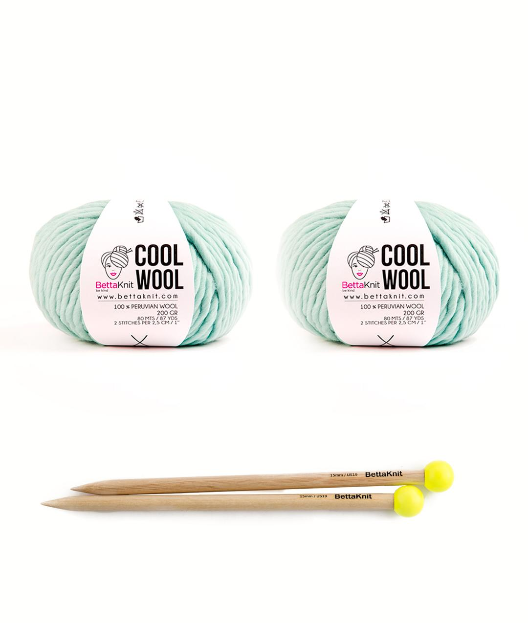 Yarn boxes with Needles  - Pack of Yarn - Cool Wool Box - Small -