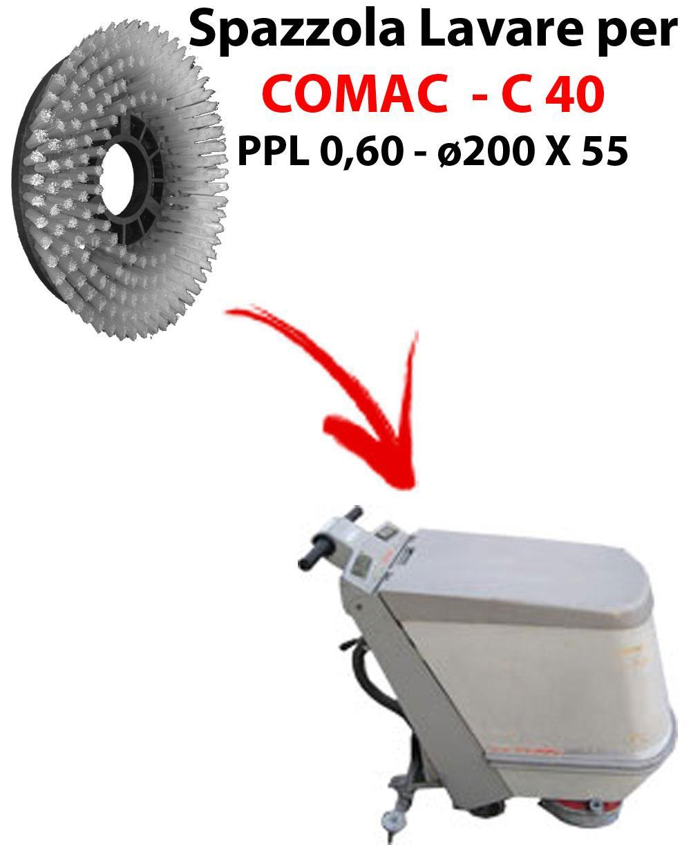 SPAZZOLA LAVARE  per lavapavimenti COMAC  C 40 SPECIAL BRUSH L17