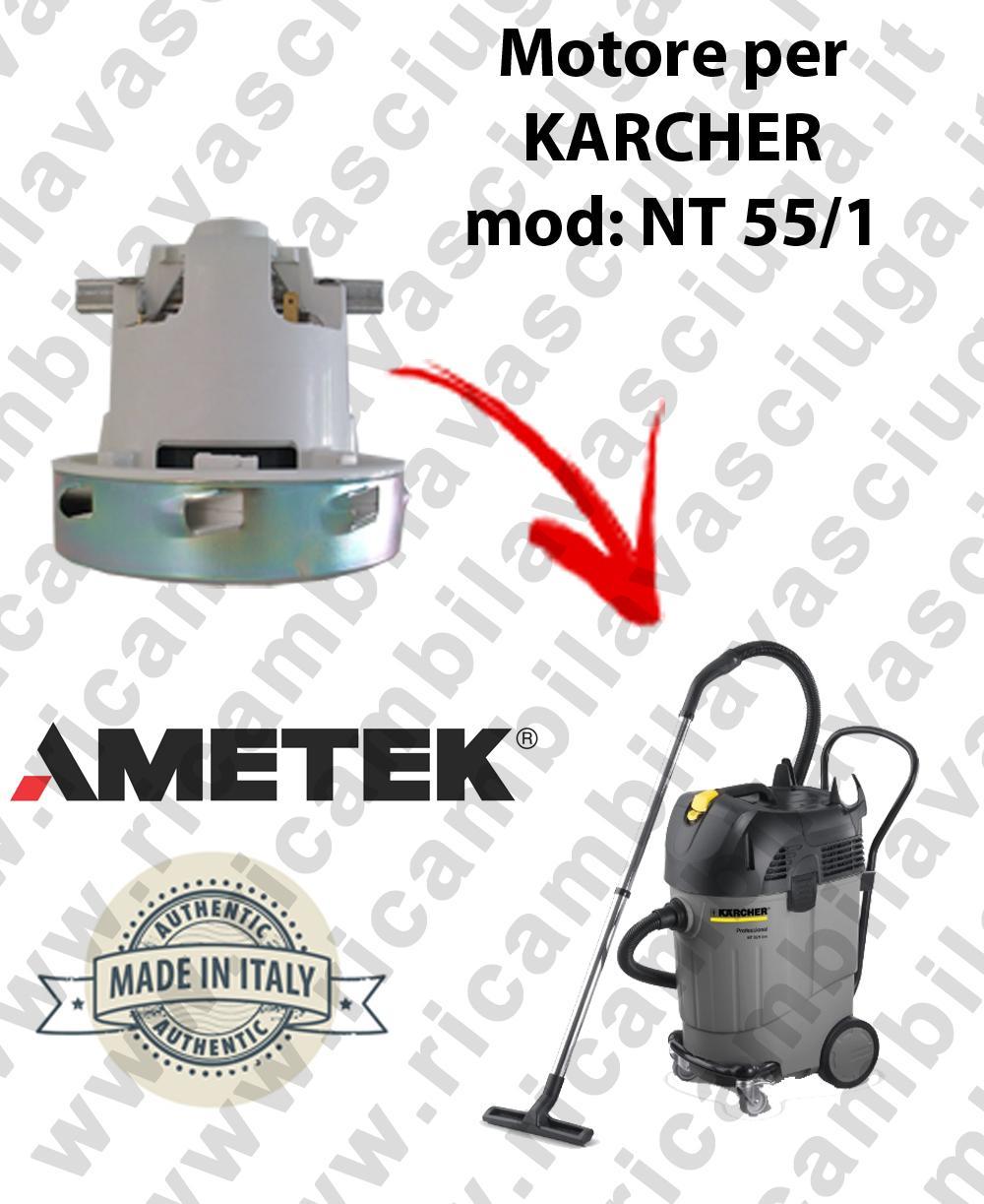 NT 55/1  MOTORE ASPIRAZIONE AMETEK  per aspirapolvere KARCHER
