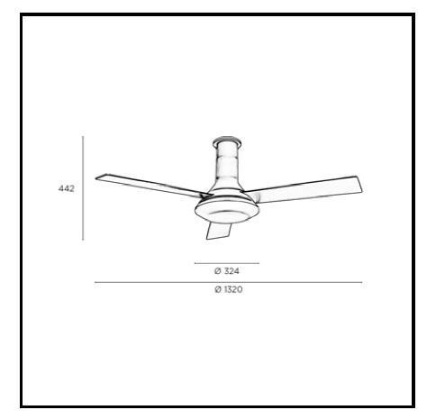 FUS ventilatore da soffitto e LED